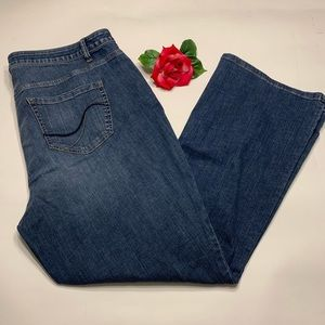 Lane Bryant Womens Plus Size 22 Boot Cut Jeans